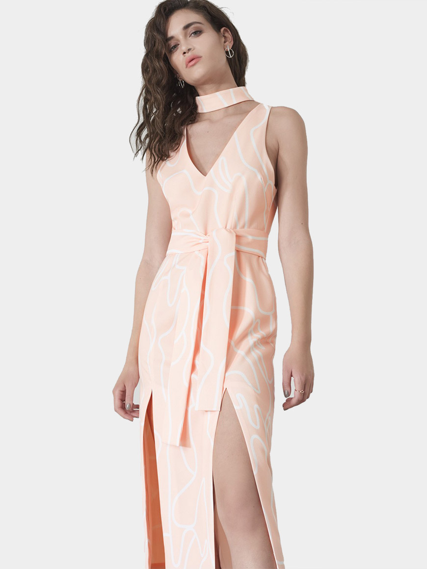 Out From Under Stardust Slip Dress multi color